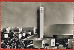 Casablanca - Maroc- L'Eglise Saint-Paul Et Le Quartier De Bourgogne- - Cpsm -- Scans  Recto Verso- Paypal Free - Casablanca