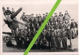 1944 * PHOTOGRAPHIE DU 336ème FIGHTER SQUADRON DE L'U.S.AIR FORCE SUR LA BASE DE DEBDEN (GRANDE BRETAGNE) - Guerre, Militaire