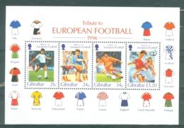 Gibraltar: 1996   European Football Championship, England   M/S  MNH - Gibraltar