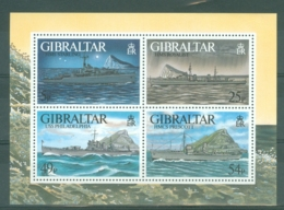 Gibraltar: 1996   WW II Warships (Series 4)   M/S  MNH - Gibilterra