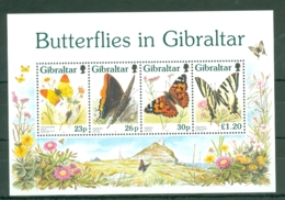 Gibraltar: 1997   Butterflies   M/S  MNH - Gibilterra
