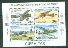 Gibraltar: 1998   80th Anniv Of R.A.F.   M/S   MNH - Gibilterra