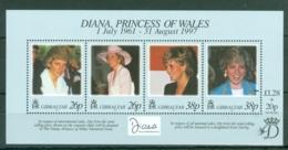 Gibraltar: 1998   Diana, Princess Of Wales Commemoration   M/S  MNH - Gibilterra