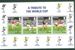 Gibraltar: 1998   World Cup Soccer, France   M/S  MNH - Gibraltar