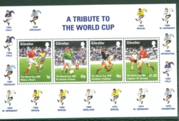 Gibraltar: 1998   World Cup Soccer, France   M/S  MNH - Gibilterra