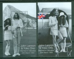 Gibraltar: 1999   30th Wedding Anniv Of John Lennon And Yoko Ono   M/S (x2)    MNH - Gibraltar