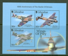Gibraltar: 2000   Wings Of Prey (Series 2)  M/S  (x2)  MNH - Gibilterra
