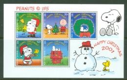 Gibraltar: 2001   Christmas - Peanuts    M/S   MNH - Gibilterra