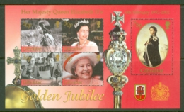 Gibraltar: 2002   Golden Jubilee   M/S  MNH - Gibilterra