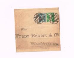 Bande Pour Journaux à 5 Centimes.Expédié De Rheineck à Waldkirch (Allemagne) - Enteros Postales