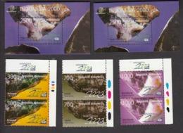 Indonesia 1998 2x Set Of 3v + 2x S/S, Stone, MNH** - Indonesien