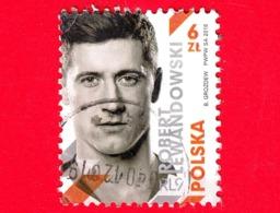 POLONIA - Usato - 2018 - Sport - Calcio - Robert Lewandowski, Calciatore - 6 - Used Stamps
