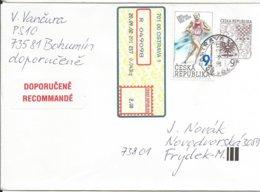 COB 5 Czech Republic Coat Of Arms 2001 Zatopek - Leichtathletik