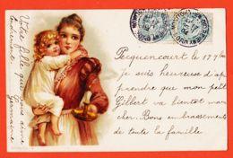 ILL094 RAPHAEL TUCK Série 43-3 UN MOT à La POSTE - PECQUENCOURT 1904 à Achille BLANCHETTE Epicier Pont-Sainte-Maxence - Tuck, Raphael