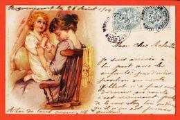 ILL101 RAPHAEL TUCK Série 43-12 UN MOT à La POSTE - PECQUENCOURT 1904 à Achille BLANCHETTE Epicier Pont-Sainte-Maxence - Tuck, Raphael
