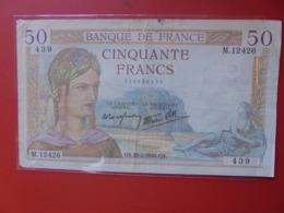 FRANCE 50 FRANCS 1940 CIRCULER (B.8) - 1871-1952 Circulated During XXth