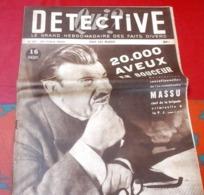 Qui Detective N°92 Mars 1948 Commissaire Massu PJ,Petites Ailes Montmorency,Gang Des Pères Tranquilles,Prison Beaumettes - Boeken, Tijdschriften, Stripverhalen