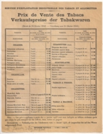 1943 PRIX DE VENTE DES TABACS SEITA   TITRE ET NOTA EN ALLEMAND EGALEMENT E19 - Documenten
