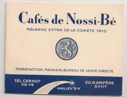 CAFE DE NOSSIBE / PRODUITS TROPICAUX   RUE AMPERE PARIS XVII EME B780 - Pubblicitari