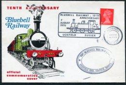 1970 GB Bluebell Railway Uckfield Train Cover - 1952-.... (Elizabeth II)