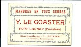 2 Cartes Commerciales Anciennes De Yves LE GOASTER - Marbres - PORT-LAUNAY - Vente Directe X - Otros Municipios