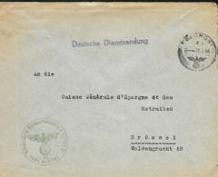 Belgique. L. Feldpost > Bruxelles   Luftgaupostamt Brüssel  1944 - Guerre 40-45