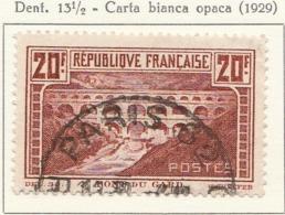 PIA - FRA - 1929-31 : Ponte Di Gard - Carta Opaca    - (Yv 262A) - Ponti