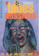 REF 399 : CPM Publicitaire Carte à Pub COGNAC Blues Passions 1999 Verso 2 - Publicité