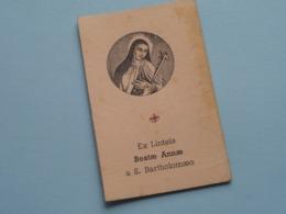 Ex Linteis BEATAE ANNAE A S. BARTHOLOMAEO ( RELIKWIE - RELIQUIARIO - RELIC - RELIQUARY - RELIQUAIRE ) Photos ! - Godsdienst & Esoterisme