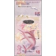 TWN - BERMUDA 58a - 5 Dollars 1.1.2009 Hybrid - Bermuda Onion Prefix - Signatures: Cossar & Simmons UNC - Bermude