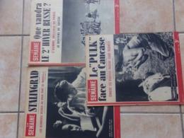 Lot De 3 La Semaine 1942 43  Le Pulk Face Au Caucase Stalingrad  Marseille Hiver Russe - Revues & Journaux