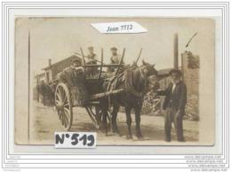 3798 AK/PC/CARTE PHOTO/N°519/TRES BEL ATTELAGE A IDENTIFIER - Cartoline