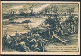 °°° 14316 - ILL. MAZZONI - SOLDATO D'ITALIA QUI SI VINCE O SI MUORE - 1918 TIMBRO POSTA MILITARE °°° - Autres Illustrateurs