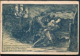 °°° 14317 - ILL. MAZZONI - SOLDATO D'ITALIA PROTEGGILE - 1918 TIMBRO POSTA MILITARE °°° - Autres Illustrateurs