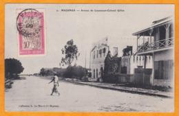 1909 - CP De Majunga, Madagascar Vers Langson, Tonkin, Indochine - Affrt 10 C - Ligne Maritime U Réunion Marseille N° 3 - Storia Postale