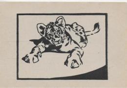 AK 0322  Tiger - Linolschnitt Von Prof. N. V. Bresslern-Roth ( Graz ) Ca. Um 1940-50 - Katzen