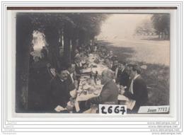 6530 AK/PC/CARTE PHOTO / 2667 / EVENEMENT CHAMPETRE / REPAS /PHOT. BELLEGARDE PARIS A SITUER - Cartoline