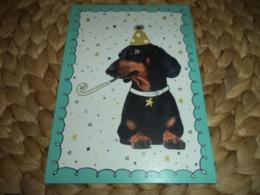 Hund Dog Postkarte Dachshund Dackel Teckel - Dogs