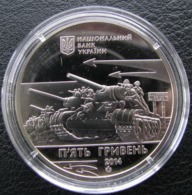 70 Years Of Liberation Of Nikopol From Fascist Invaders Ukraine 2014 Coin , 5 UAH - Ukraine