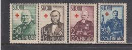 Finland 1938 - Rotes Kreuz: Historische Persoelichkeiten, Mi-Nr. 204/07, MNH** - Finland