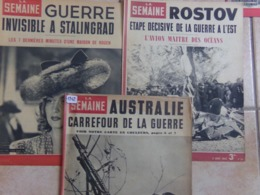 Lot De 3 La Semaine 1942 Russe Rostov Avion Guerre Stalingrad Australie Carrefour De La Guerre - Revues & Journaux