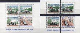 50 Jahre AVUS 1971 Berlin 397/0,VB,4x ZD+Block 3 O 9€ Zusammendruck Opel MC Sport Blocs Ss Car Se-tenant Bf Germany - [5] Berlino