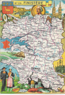 CARTE GEOGRAPHIQUE - Département Du FINISTERE - Par PINCHON - Landkarten