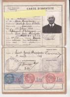 Au Plus Rapide Timbre Fiscal Fiscaux Carte Identité Etat Français 9 Avril 1944 St Genès Champespe Retraité Eaux Et Forêt - Fiscaux
