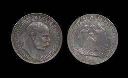 HONGRIE . FRANCOIS  JOSEPH .  5 KORONA . 1907 . - Hungary