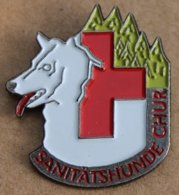 CHIEN BLANC - WHITE DOG - WEISS HUND - CROIX ROUGE - RED CROSS - SANITATSHUNDE CLUB  -      (22) - Animales