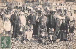 LE TREPORT - Carte Photo - 1913  - Scène De Plage - Le Treport