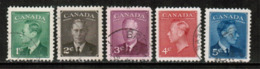 CANADA  Scott # 284-8 VF USED (Stamp Scan # 535) - Used Stamps