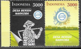 INDONESIA, 2019, MNH, DRUGS, NO TO DRUGS,2v - Drugs