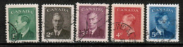 CANADA  Scott # 289-93 VF USED (Stamp Scan # 535) - Used Stamps
